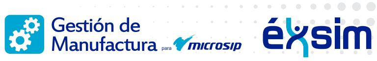 Gestión de Manufactura para Microsip